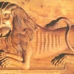 Пряничная доска из Вологды, Лев