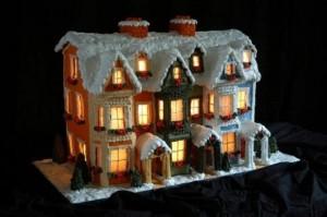 Ночной пряничный дом