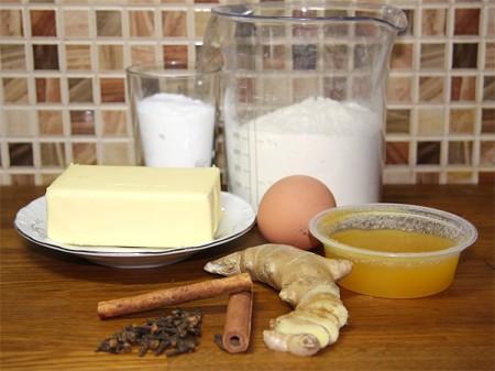 Продукты для приготовления имбирного печенья