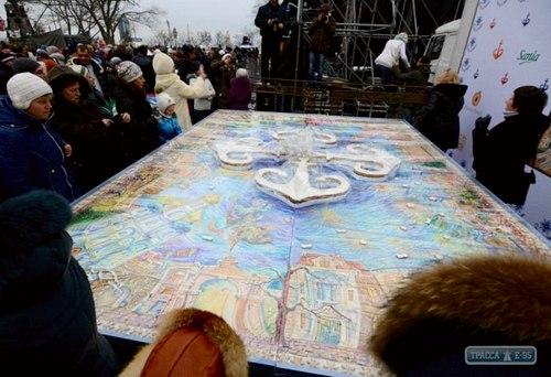 В Одессе испекли самый большой пряник Украины